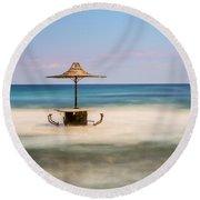 Seaside Bar Round Beach Towel
