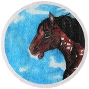 Spirit Of The Appaloosa Round Beach Towel