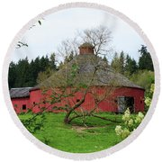 Spring At The Round Barn Round Beach Towel