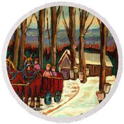 Sugar Shack Round Beach Towel