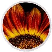 Sun Rise Sunflower Round Beach Towel