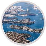 Round Beach Towel featuring the photograph  Sydney Vibes by Parker Cunningham