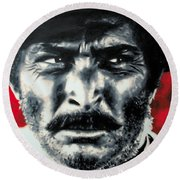 - The Good The Bad And The Ugly - Round Beach Towel by Luis Ludzska