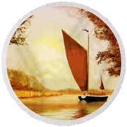 The Wherry Albion Round Beach Towel