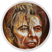 Round Beach Towel featuring the painting  Tribute To David by Andrzej Szczerski
