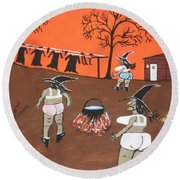 Witches Wash Day Round Beach Towel