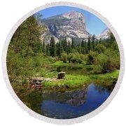 @ Yosemite Round Beach Towel