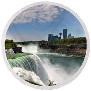 004 Niagara Falls  Round Beach Towel