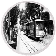 021016 San Francisco Trolly Round Beach Towel