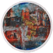 027 Abstract Thought Round Beach Towel