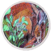 032917louisiana Swamp Rabbit Round Beach Towel