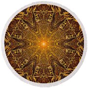 Round Beach Towel featuring the photograph 033 by Phil Koch