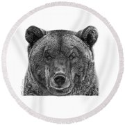 045 Papa Bear Round Beach Towel