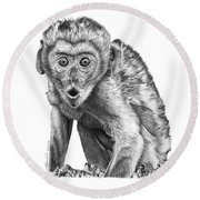 057 Madhula The Monkey Round Beach Towel