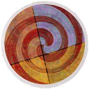 0581 Abstract Thought Round Beach Towel