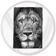 059 - Lorien The Lion Round Beach Towel