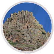 Mountain Scenery Hwy 14 Co Round Beach Towel