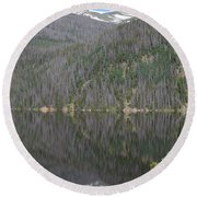 Chambers Lake Reflection Hwy 14 Co Round Beach Towel