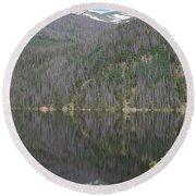 Chambers Lake Reflection Hwy 14 Co Round Beach Towel