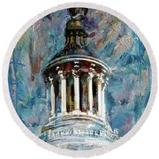 063 United States Capitol Dome Round Beach Towel