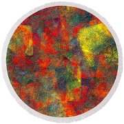 0786 Abstract Thought Round Beach Towel