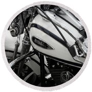 1 - Harley Davidson Series  Round Beach Towel by Lainie Wrightson