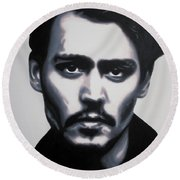 - Johnny - Round Beach Towel by Luis Ludzska
