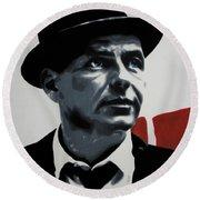 - Sinatra - Round Beach Towel by Luis Ludzska