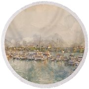 10879 Clearwater Marina Round Beach Towel
