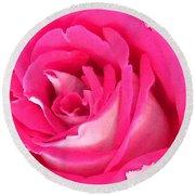 Bara Means Rose Round Beach Towel