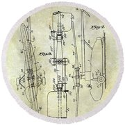 1935 Helicopter Patent  Round Beach Towel