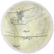 1947 Helicopter Patent Round Beach Towel