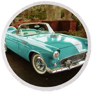 1956 Ford Thunderbird 5510.04 Round Beach Towel by M K  Miller