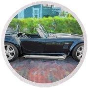 1965 Ford Ac Cobra Painted    Round Beach Towel