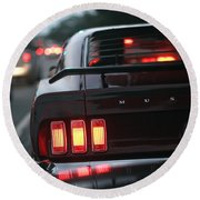 1969 Ford Mustang Mach 1 Round Beach Towel