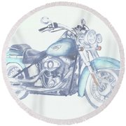 2015 Softail Round Beach Towel