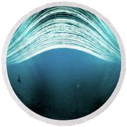 Round Beach Towel featuring the photograph 2016 In One Exposure. by Will Gudgeon