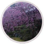 Shidarezakura Mean A Drooping Cherry Tree  Round Beach Towel