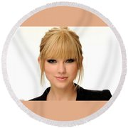 332945 Women Taylor Swift Round Beach Towel