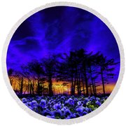 Round Beach Towel featuring the photograph 4413 by Peter Holme III