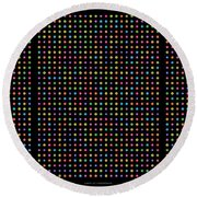 768 Digits Of Pi Up To Feynman Point, E And Phi Round Beach Towel