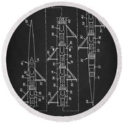 Round Beach Towel featuring the digital art 8 Man Rowing Shell Patent by Taylan Apukovska