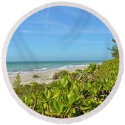 A Beautiful Day Round Beach Towel