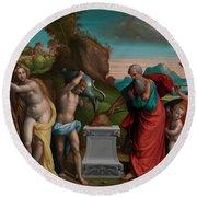 A Pagan Sacrifice Round Beach Towel