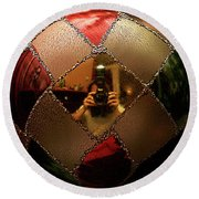 Round Beach Towel featuring the photograph A Photographer's Christmas Greeting by Trish Mistric