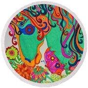 A Rainbow Called Romeo Round Beach Towel