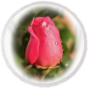 A Rose For Love Round Beach Towel