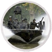 A Special Operations Craft Riverine Round Beach Towel