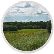 A Storm Is Brewing Round Beach Towel by Cendrine Marrouat