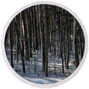 A Walk In The Woods Round Beach Towel by Tricia Marchlik